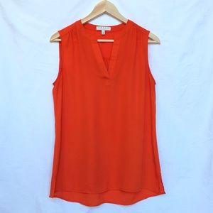 CHAUS Red-Orange Sleeveless Top